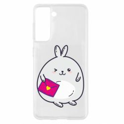Чохол для Samsung S21 Rabbit with a letter