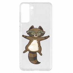 Чохол для Samsung S21+ Raccoon