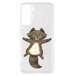 Чохол для Samsung S21 Raccoon