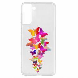 Чохол для Samsung S21+ Rainbow butterflies