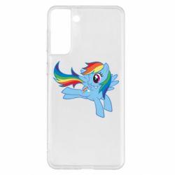 Чохол для Samsung S21+ Rainbow Dash run