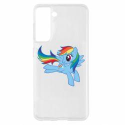 Чохол для Samsung S21 Rainbow Dash run