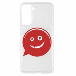 Чехол для Samsung S21 Red smile