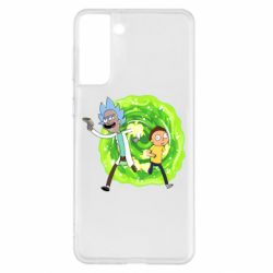 Чохол для Samsung S21+ Rick and Morty art