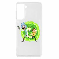 Чохол для Samsung S21 Rick and Morty art