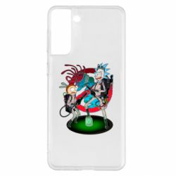 Чохол для Samsung S21+ Rick and Morty as Ghostbusters