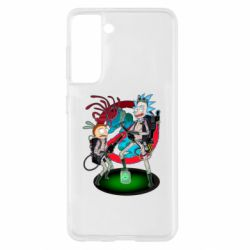 Чохол для Samsung S21 Rick and Morty as Ghostbusters