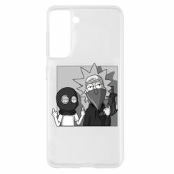 Чехол для Samsung S21 Rick and Morty Bandits