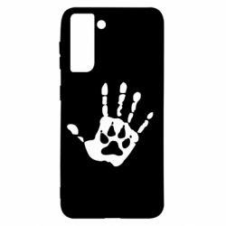 Чехол для Samsung S21 Рука волка