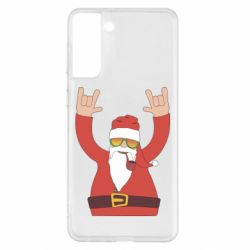 Чохол для Samsung S21+ Santa Claus with a tube