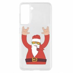 Чохол для Samsung S21 Santa Claus with a tube