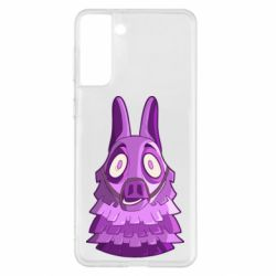 Чохол для Samsung S21+ Scared llama from fortnite