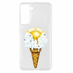 Чохол для Samsung S21 Sea ice cream