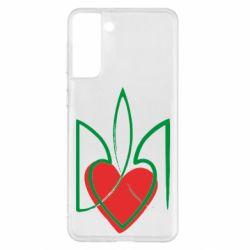 Чехол для Samsung S21+ Серце з гербом
