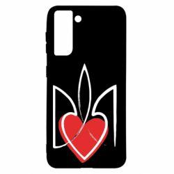 Чехол для Samsung S21 Серце з гербом