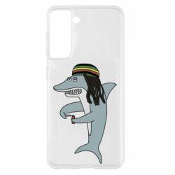 Чохол для Samsung S21 Shark Rastaman