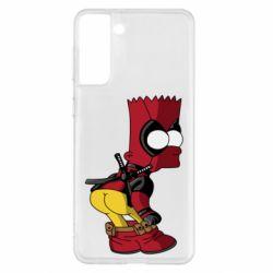 Чохол для Samsung S21+ Simpson Kiss my Ass Deadpool
