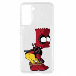 Чохол для Samsung S21 Simpson Kiss my Ass Deadpool
