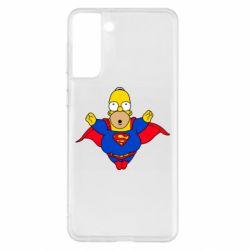 Чехол для Samsung S21+ Simpson superman
