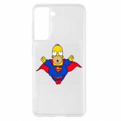 Чехол для Samsung S21 Simpson superman