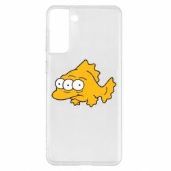 Чехол для Samsung S21+ Simpsons three eyed fish