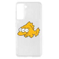 Чехол для Samsung S21 Simpsons three eyed fish