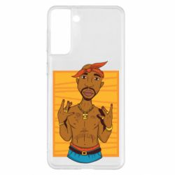 Чохол для Samsung S21+ Singer Tupac Shakur