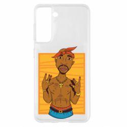 Чохол для Samsung S21 Singer Tupac Shakur