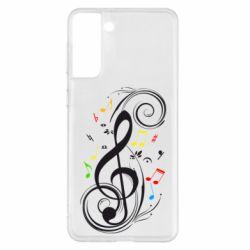 Чехол для Samsung S21+ Скрипичный ключ