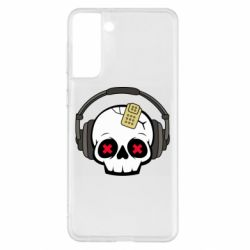 Чохол для Samsung S21+ Skull in headphones 1