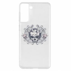 Чохол для Samsung S21+ Skull with horns and patterns
