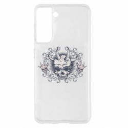 Чохол для Samsung S21 Skull with horns and patterns