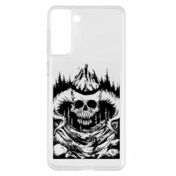Чохол для Samsung S21+ Skull with horns in the forest
