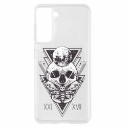 Чохол для Samsung S21 Skull with insect