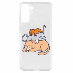 Чехол для Samsung S21+ Sleeping cats
