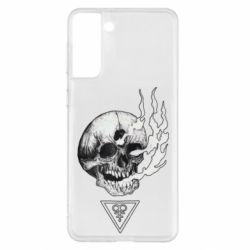 Чохол для Samsung S21+ Smoke from the skull