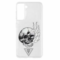 Чохол для Samsung S21 Smoke from the skull