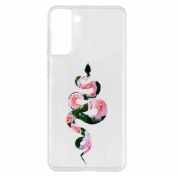 Чохол для Samsung S21+ Snake and roses
