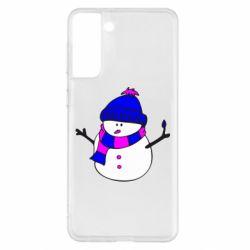 Чохол для Samsung S21+ Сніговик
