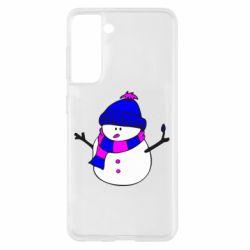 Чохол для Samsung S21 Сніговик