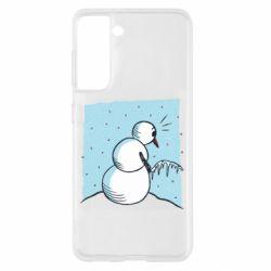 Чохол для Samsung S21 Snowman. It's Cold!