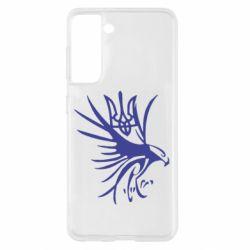 Чохол для Samsung S21 Сокіл та герб України