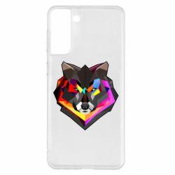 Чехол для Samsung S21+ Сolorful wolf