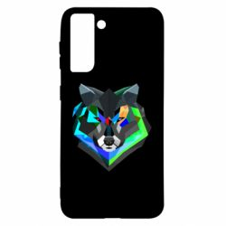 Чехол для Samsung S21 Сolorful wolf