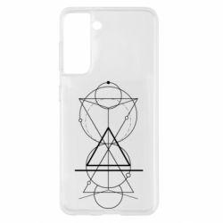 Чохол для Samsung S21 Сomposition of geometric shapes