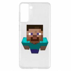 Чехол для Samsung S21+ Steve from Minecraft