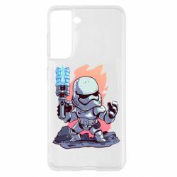 Чохол для Samsung S21 Stormtrooper chibi