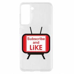 Чохол для Samsung S21 Subscribe and like youtube