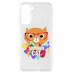 Чохол для Samsung S21 Summer cat