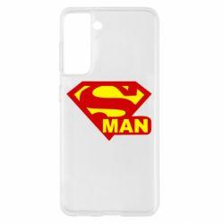 Чохол для Samsung S21 Super Man